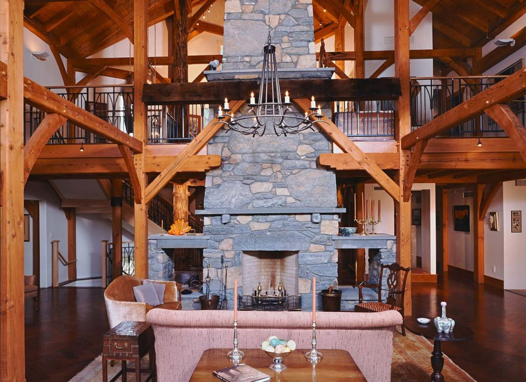 Gravagno Residence timberframe design