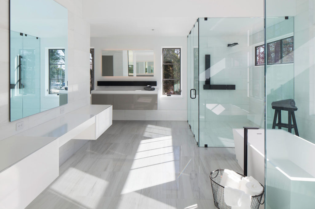 large modern bathroom at ardwyn