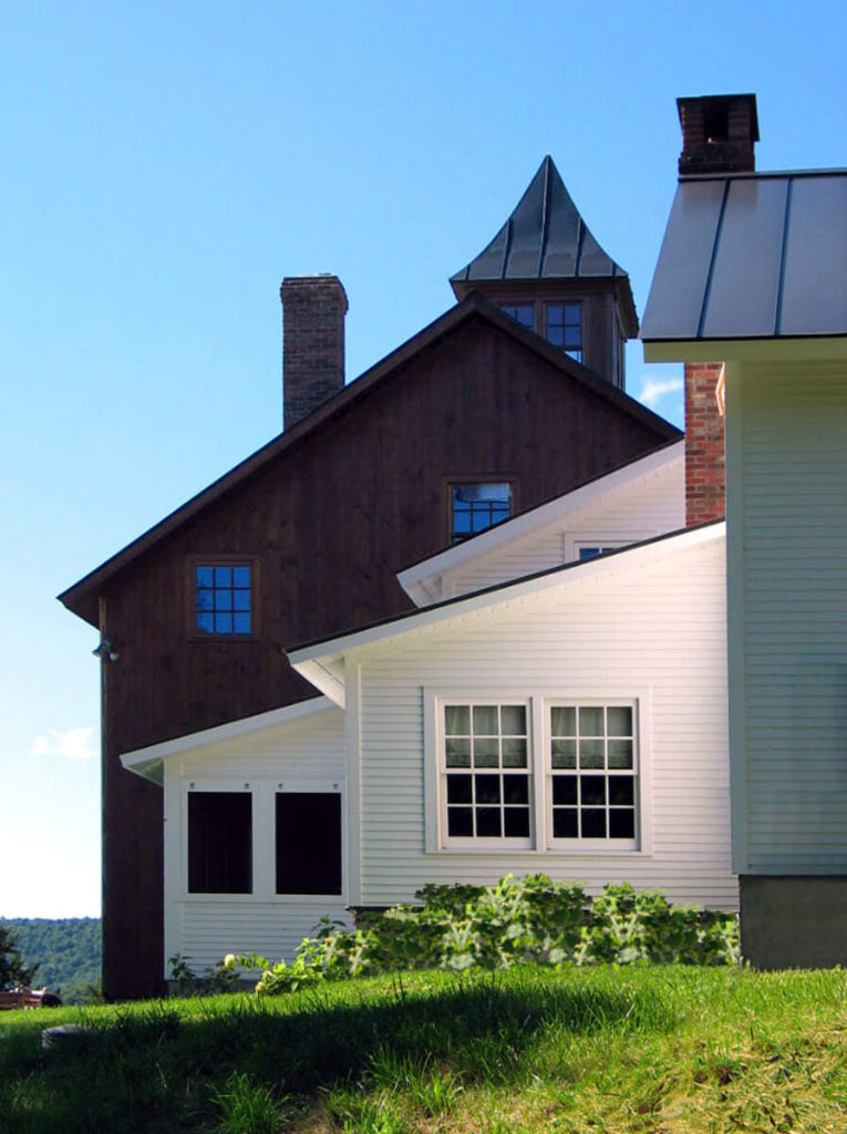 exterior framework of burke residence
