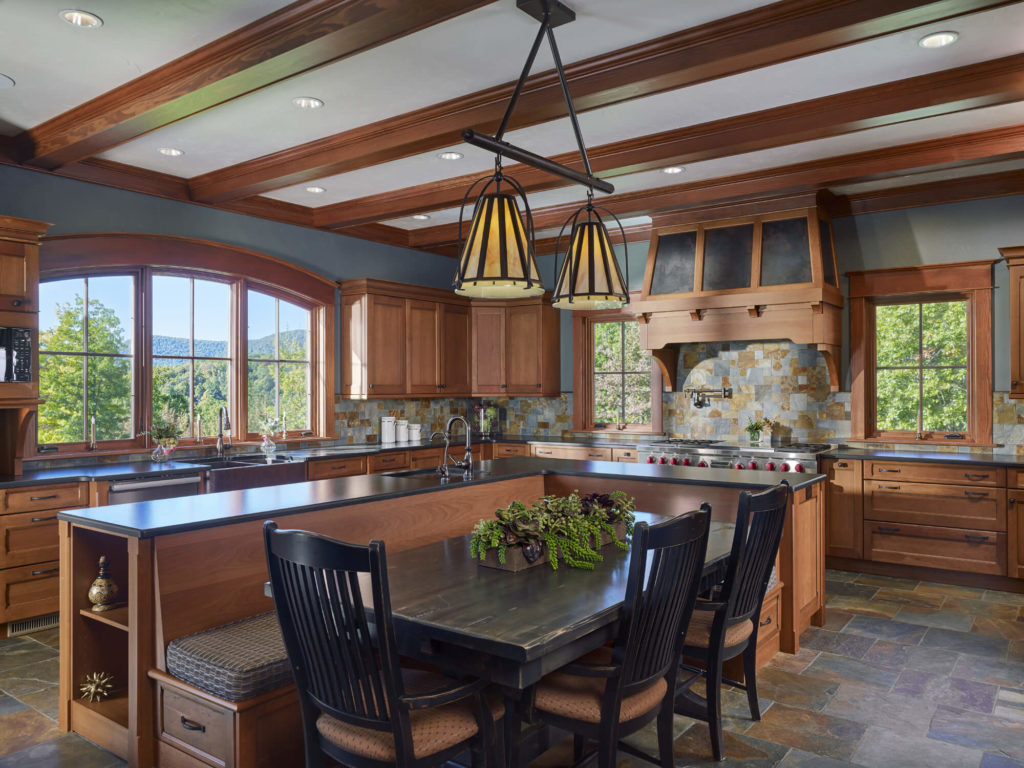 open kitchen at Timberline Estate