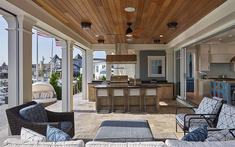 stone harbor bayfront oasis outdoor kitchen